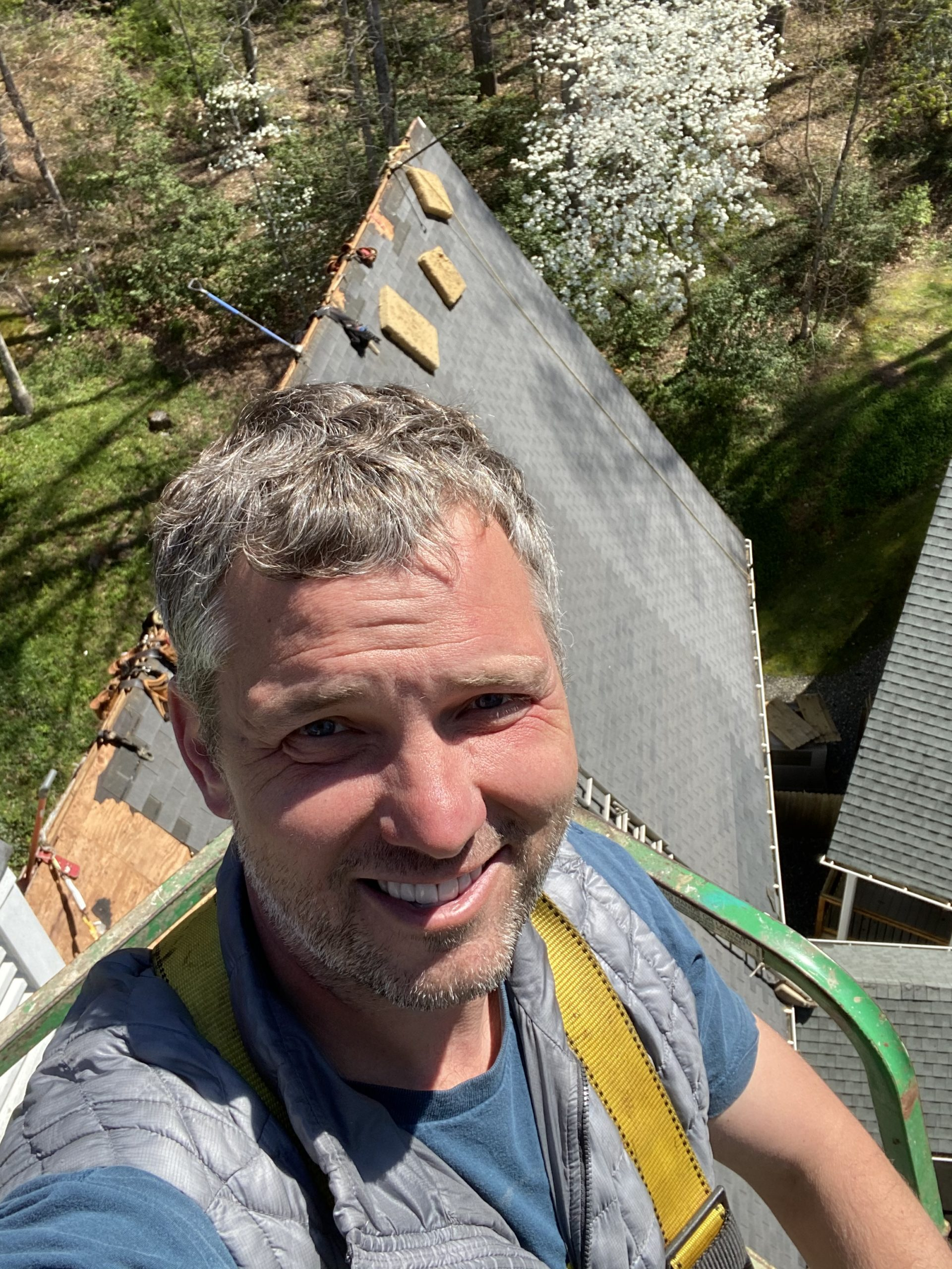 Me at the top of the roof.