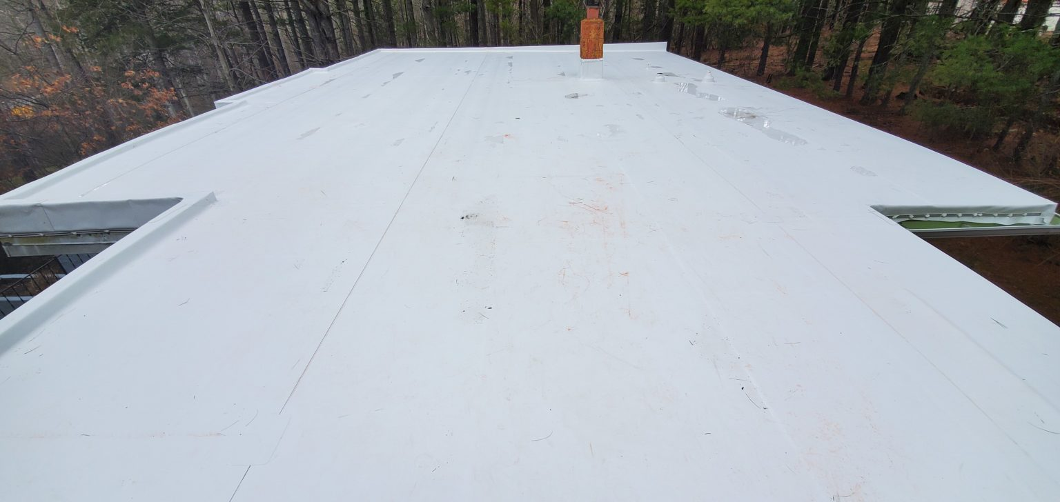 top view of roof facing east