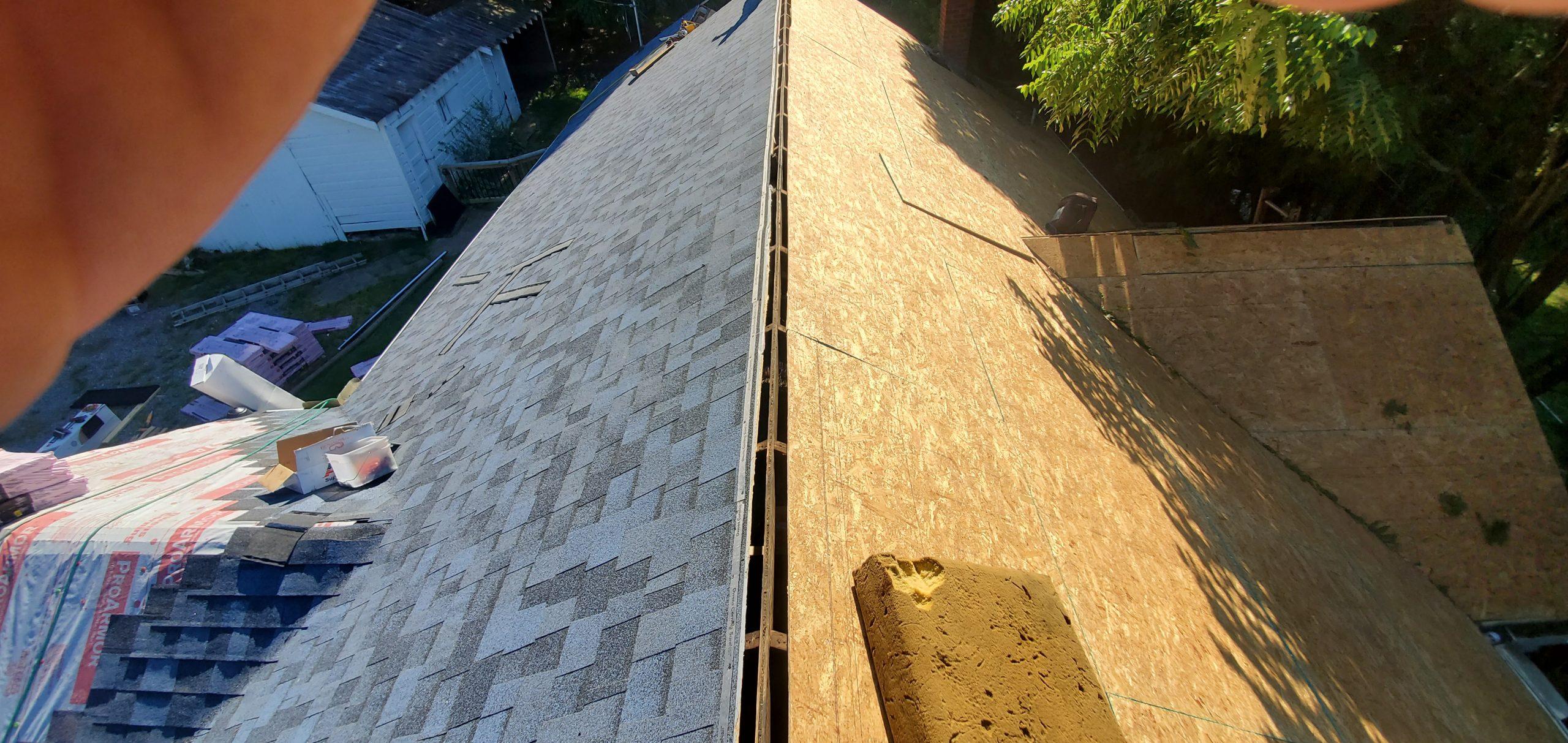 Ridge vent allows proper ventilation