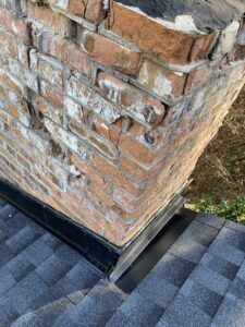 The Chimney definitely has Roof Repairs to do before Flashing