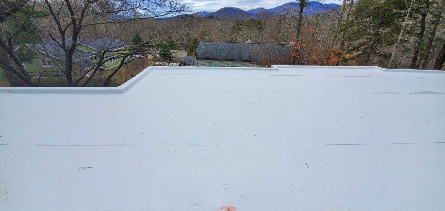 top of roof facing south