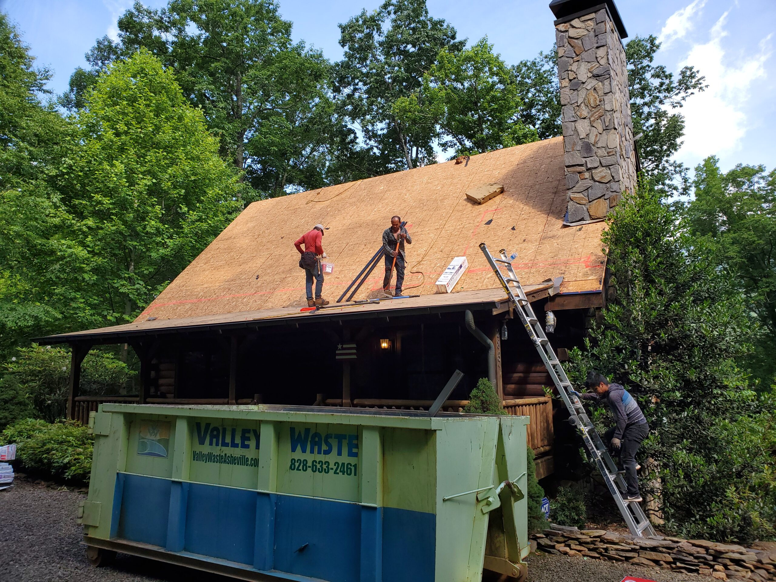 All shingles off the roof