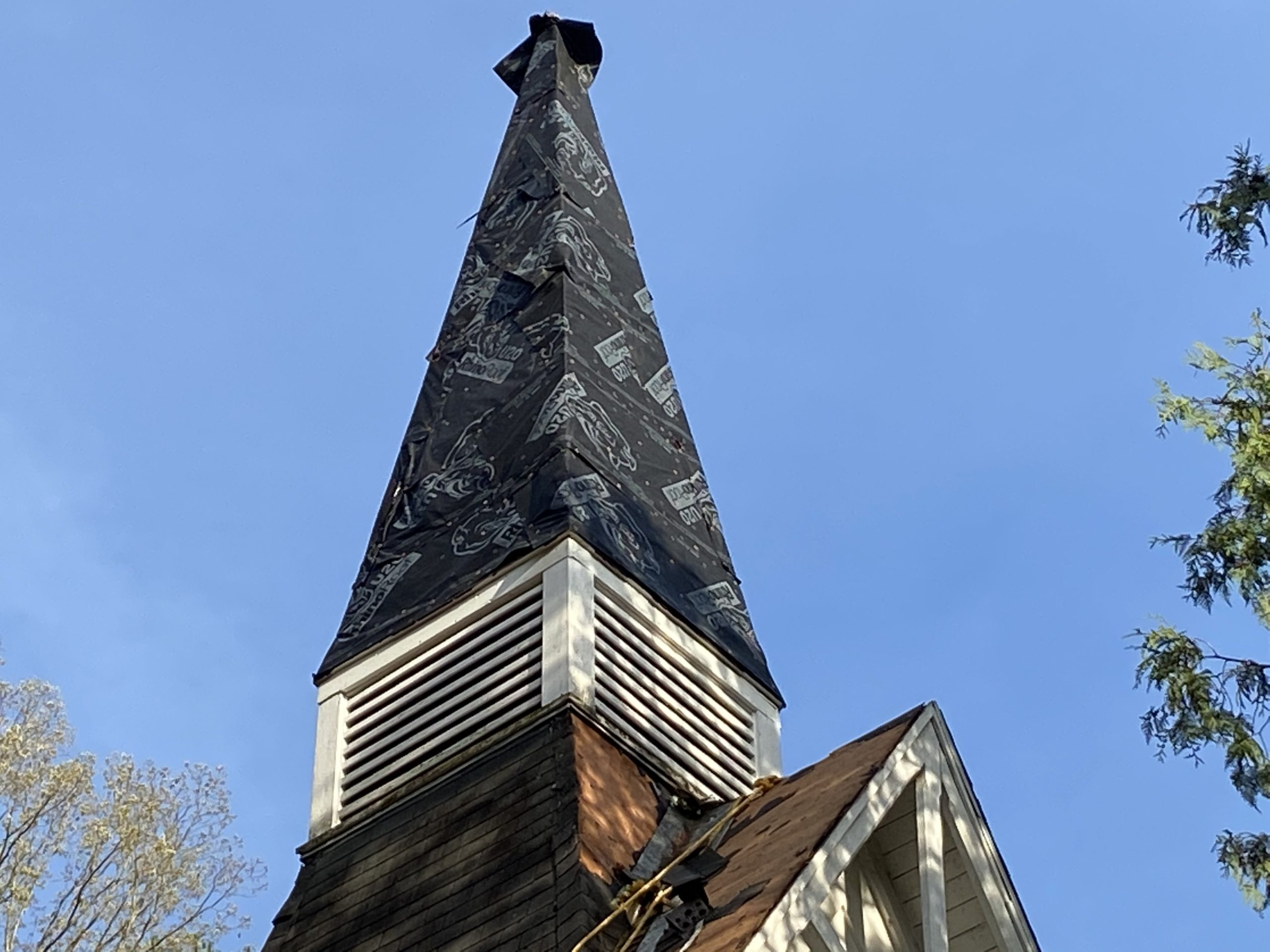 Chimney Steeple Re roof