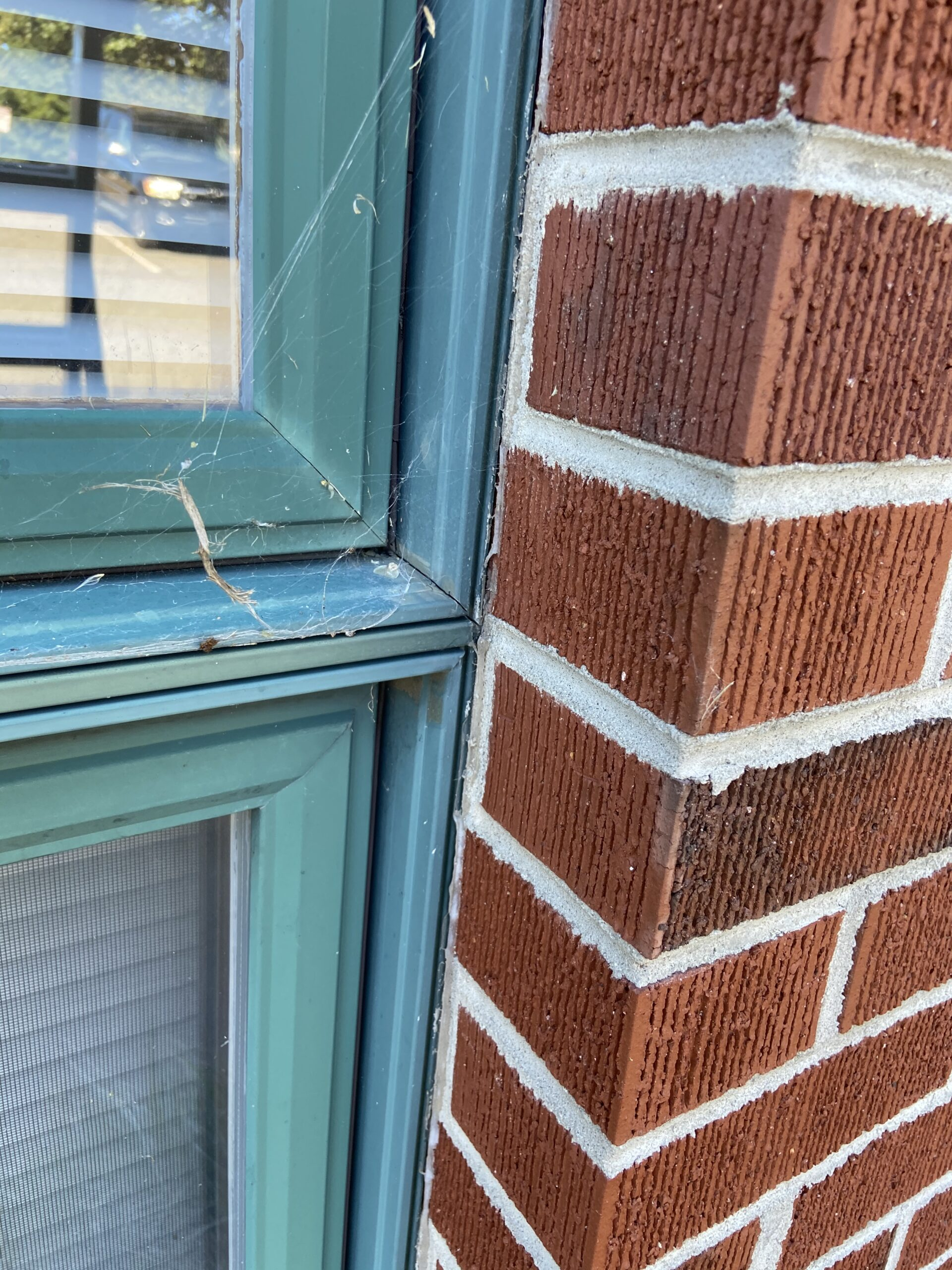This is a picture of cracking between Brick and a window this needs to be caulked