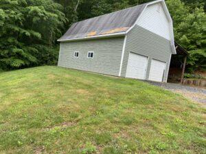 Wind damaged barn
